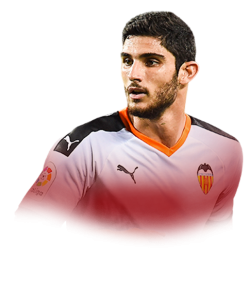 Picture of the 1.79 m (5 ft 10 in) tall Portuguese  winger of Valencia