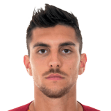 Picture of the 1.86 m (6 ft 1 in) tall Italian  midfielder  of A.S. Roma