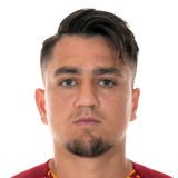 Picture of the 1.73 m (5 ft 8 in) tall Turkish  winger of A.S. Roma