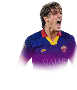 Picture of the 1.90 m (6 ft 3 in) tall Italian  midfielder of A.S. Roma