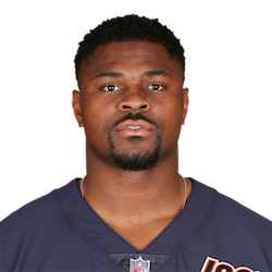 Picture of the 6 ft 3 in (1.91 m) tall American outside linebacker of Chicago Bears