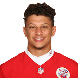 Picture of the 6 ft 3 in (1.91 m) tall American quarterback of Kansas City Chiefs