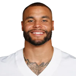Picture of the 6 ft 2 in (1.88 m) tall American quarterback of Dallas Cowboys