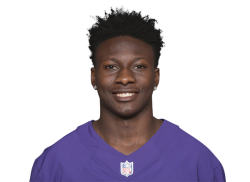Picture of the 5 ft 9 in (1.75 m) tall American wide receiver of Baltimore Ravens