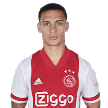 Picture of the 1.74 m (5 ft 9 in) tall Brazilian right winger of Ajax