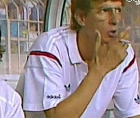 wenger smoking cigarette