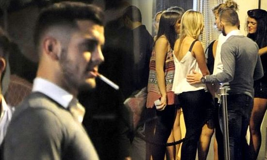 Wilshere smoking cigarette