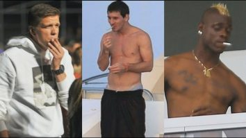 smoking footballers