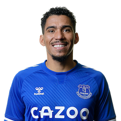 Picture of the 1.75 m (5 ft 9 in) tall Brazilian midfielder of Everton