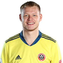 Picture of the 1.88 m (6 ft 2 in) tall English goalkeeper of Sheffield United