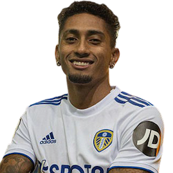 Picture of the 1.76 m (5 ft 9 in) tall Brazilian  right winger of Leeds United