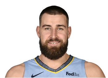 Picture of the 6 ft 11 in (2.11 m) tall Lithuanian center of Memphis Grizzlies