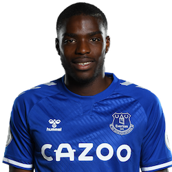 Picture of the 1.80 m (5 ft 11 in) tall French left back of Everton