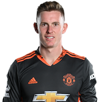 Picture of the 1.88 m (6 ft 2 in) tall English goalkeeper of Manchester United