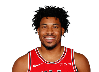 Picture of the 6 ft 8 in (2.03 m) tall American small forward of Chicago Bulls
