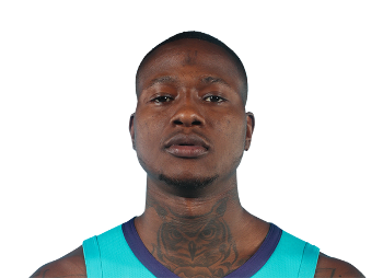 Picture of the 6 ft 1 in (1.85 m) tall American point guard of Charlotte Hornets