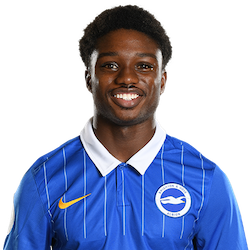 Picture of the 1.64 m (5 ft f in) tall English defender of Brighton & Hove Albion