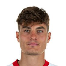 Picture of the 1.87 m (6 ft 2 in) tall Czech  forward of Bayer Leverkusen