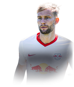 Picture of the 1.80 m (5 ft 11 in) tall Austrian  midfielder of RB Leipzig